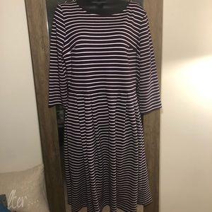 🎟Coldwater Creek Striped Skater Dress